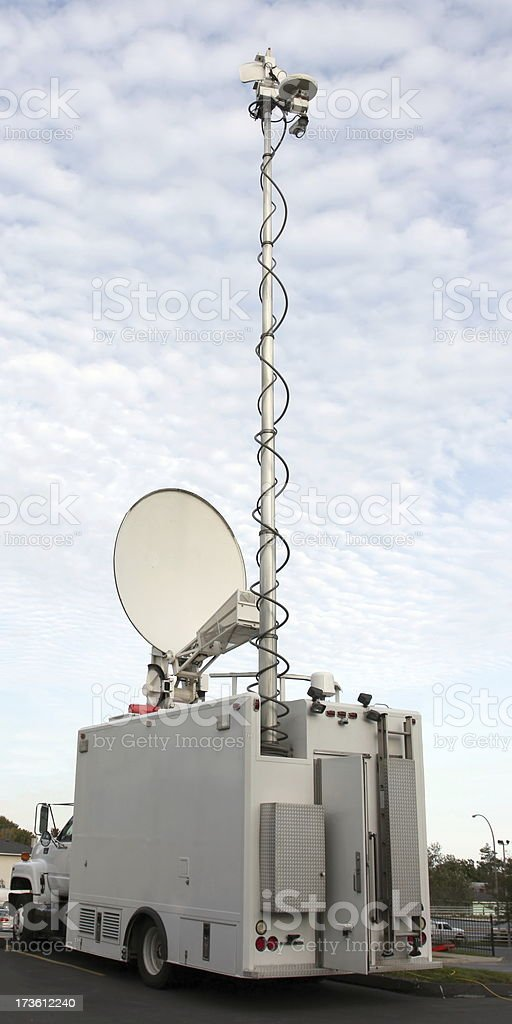 Remote Broadcast Vehicle royalty-free stock photo