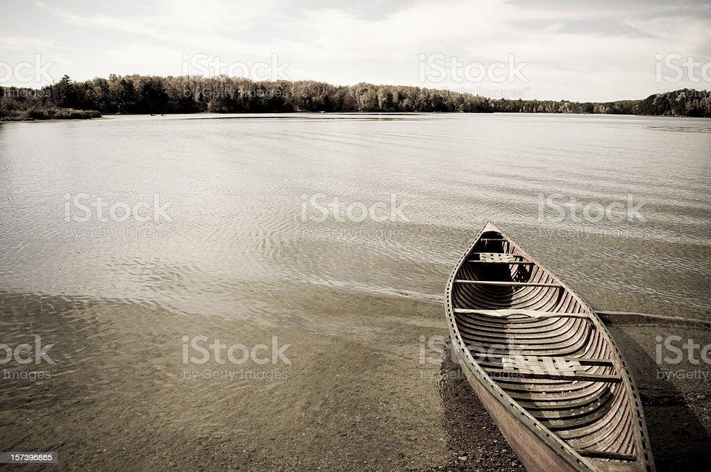 Remote Canoe royalty-free stock photo