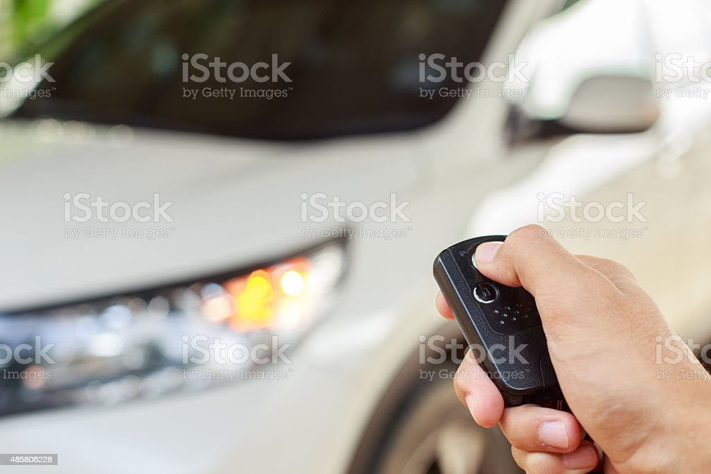 Remote car stock photo