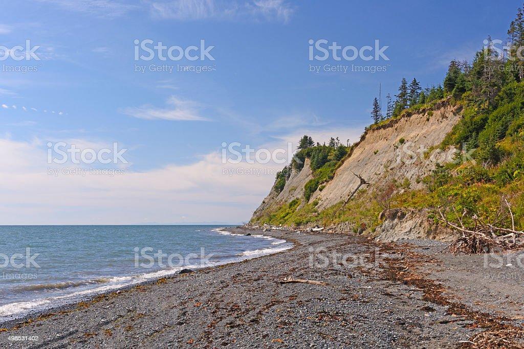 Remote Coast on a Sunny Day stock photo