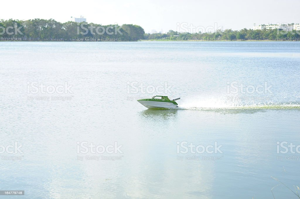 Remote control boat royalty-free stock photo