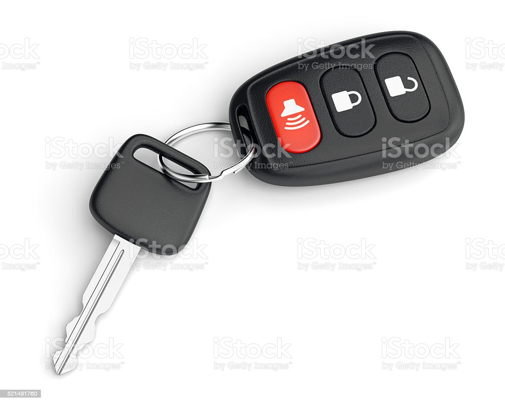 Remote control car key stock photo