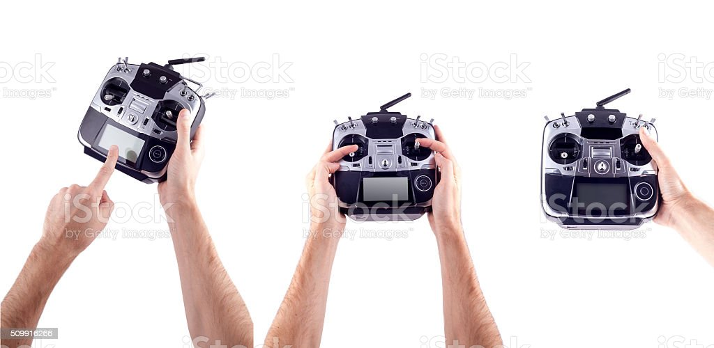 Remote control in hand man stock photo
