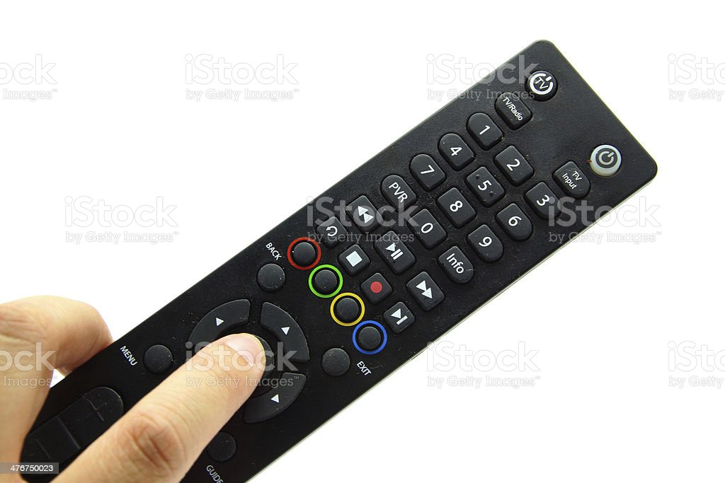 Remote Control in Hand royalty-free stock photo