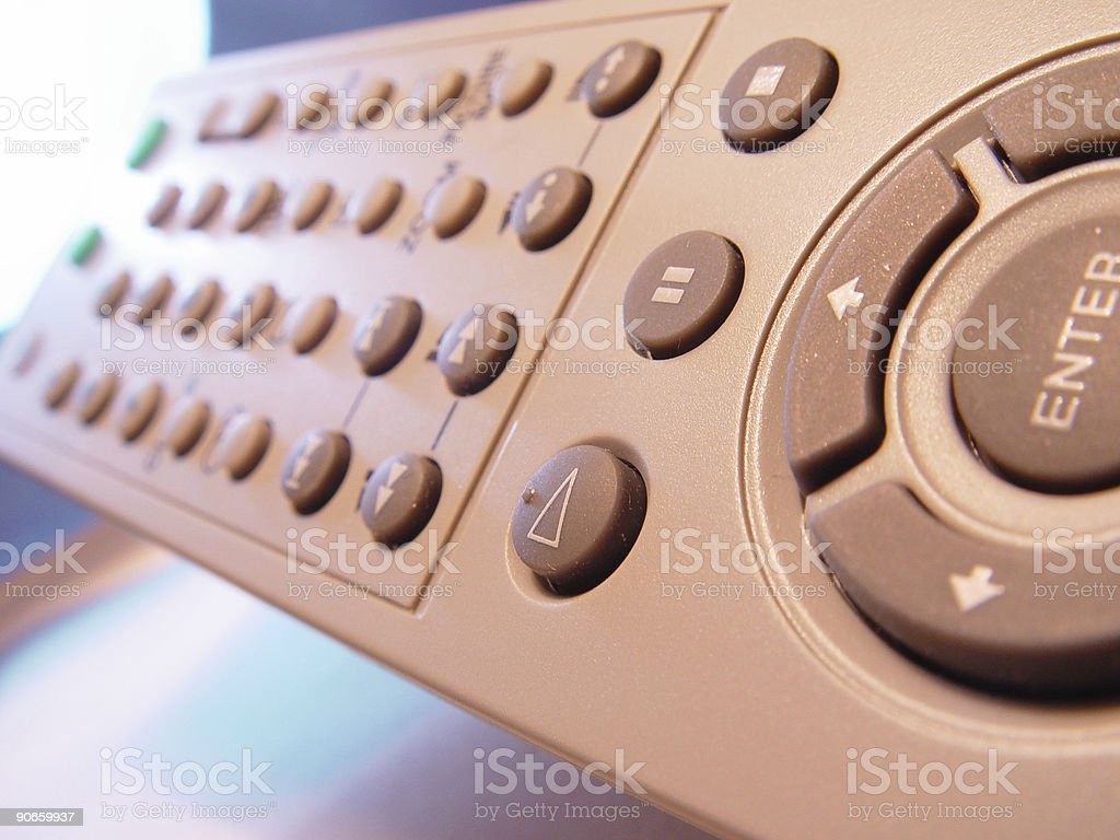 TV Remote control Macro - Shallo DOF stock photo