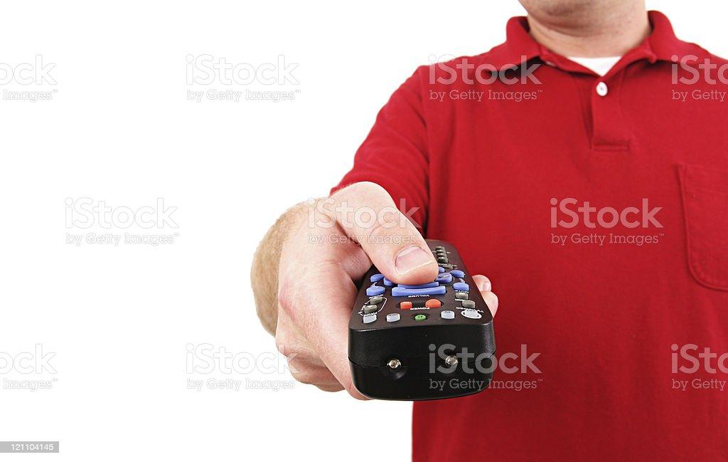 Remote Control Man royalty-free stock photo