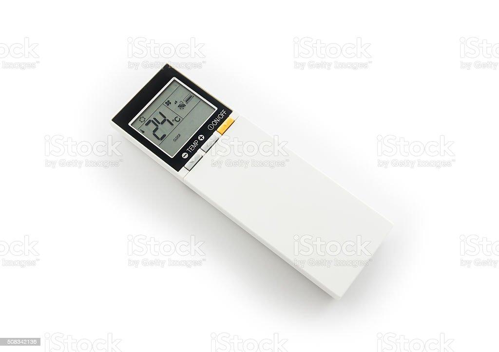 remote control of air conditioner stock photo