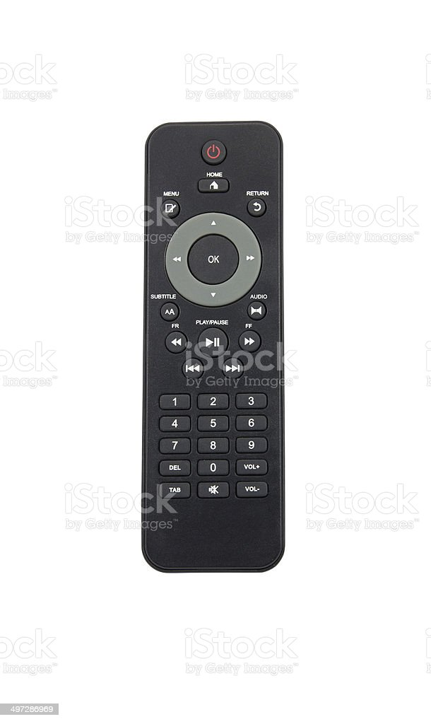 TV remote control on white background royalty-free stock photo