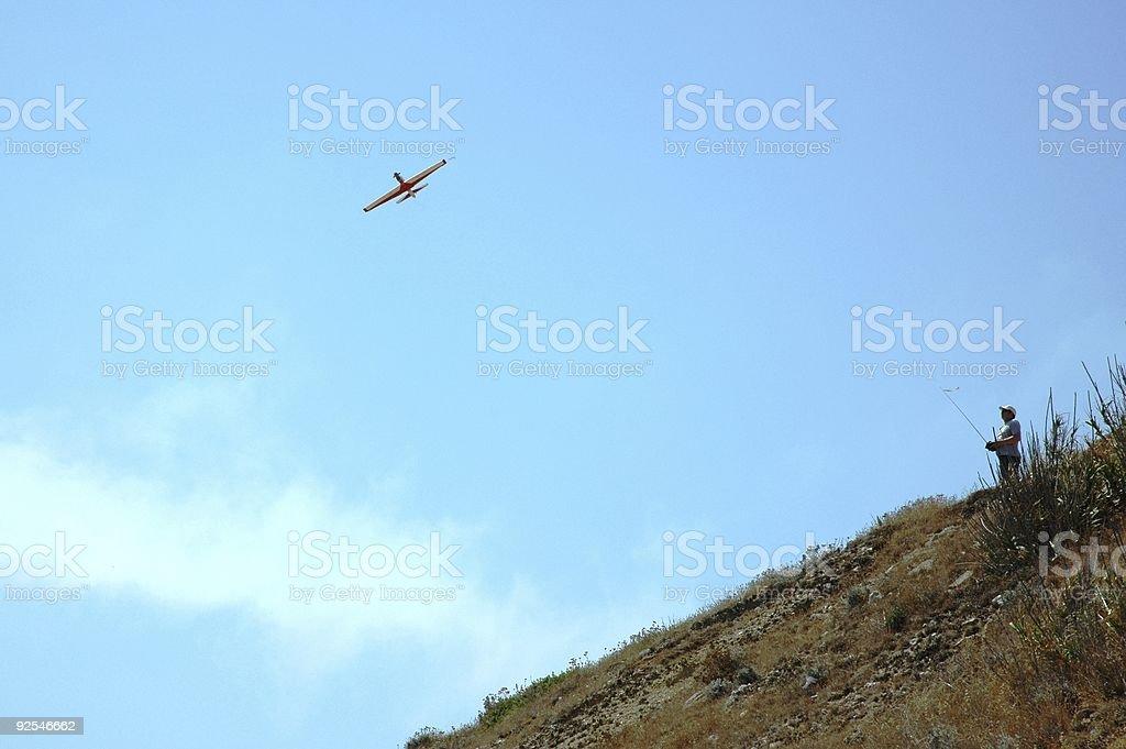 Remote Control Plane stock photo