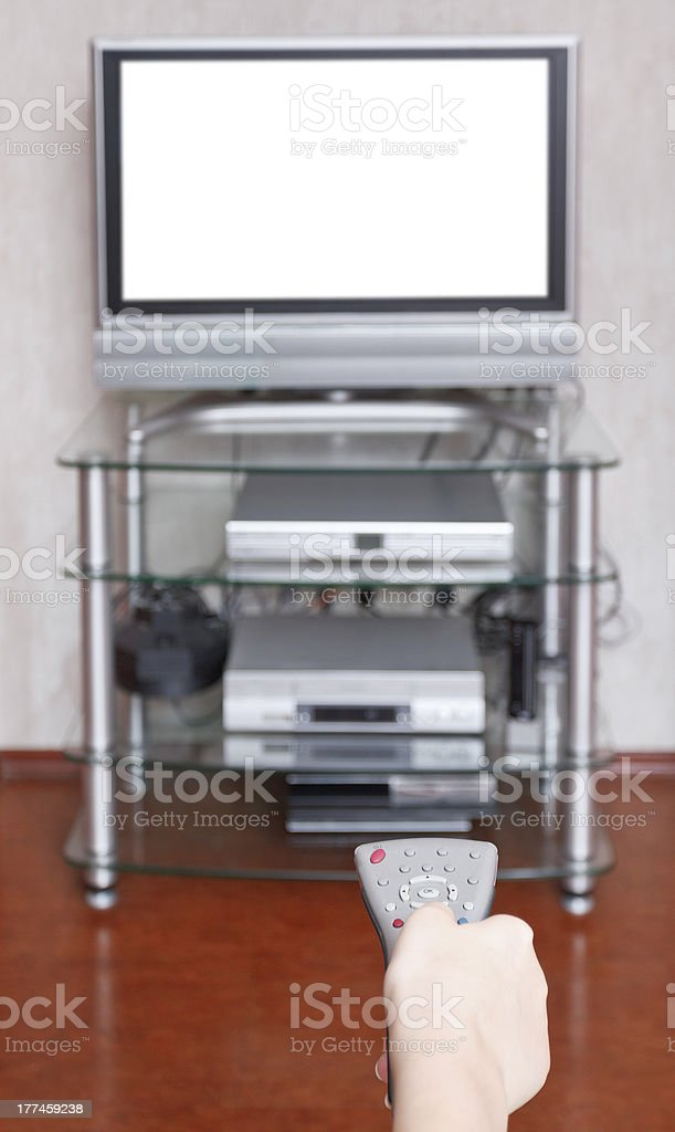 remote control switch TV channels royalty-free stock photo