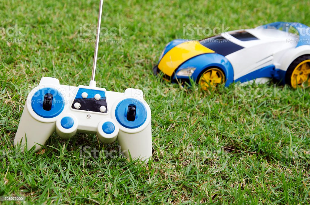Remote control toy car stock photo