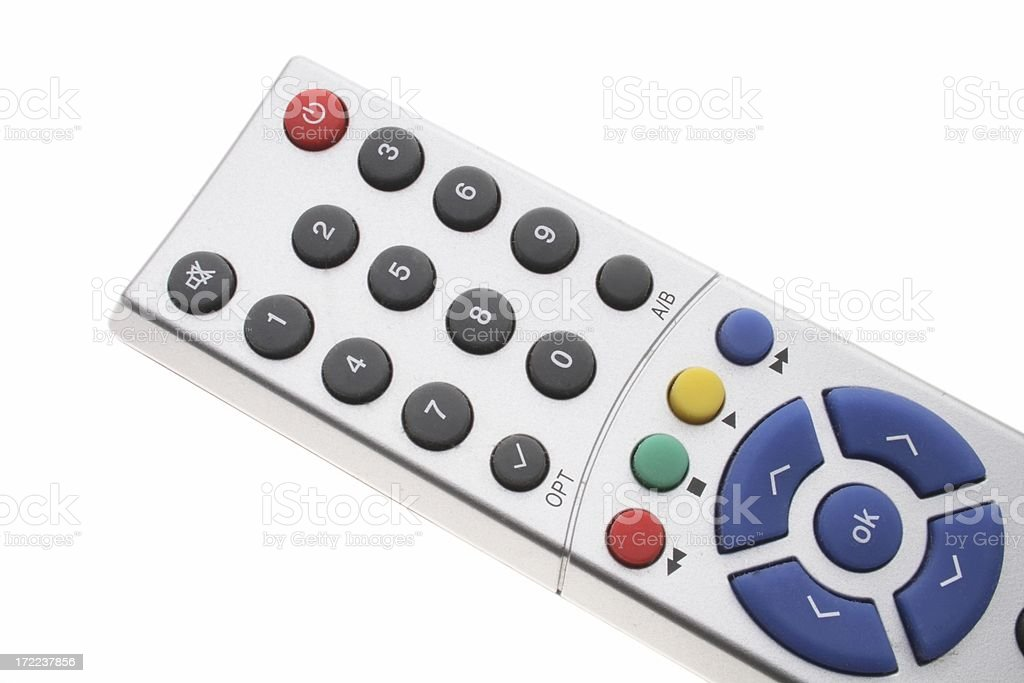 Remote control, zapper on white royalty-free stock photo