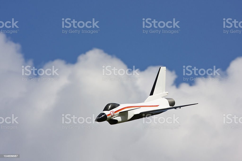 Remote Controlled Airplane - Jet aircraft Fighter royalty-free stock photo