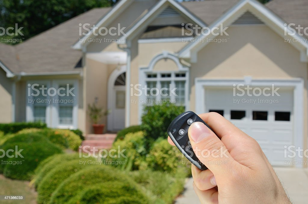 Remote Controlled House Alarm stock photo