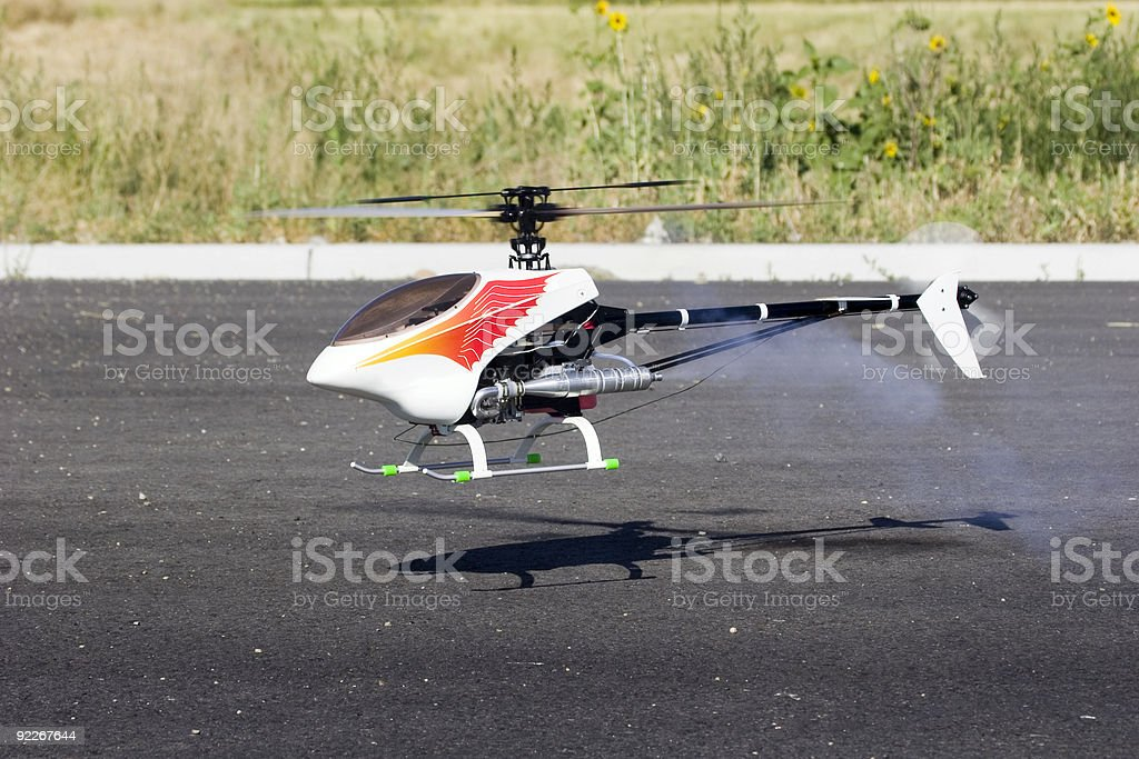 Remote Controlled Model Helicopter stock photo