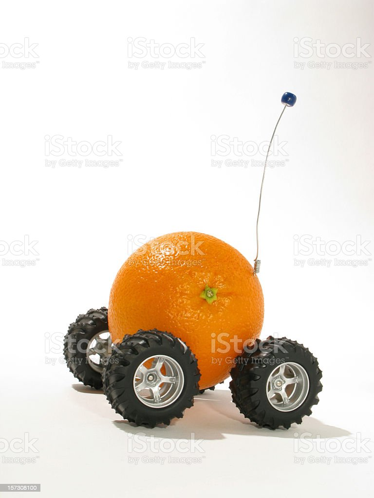 Remote controlled orange stock photo