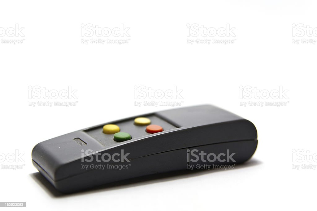 Remote controller on white royalty-free stock photo