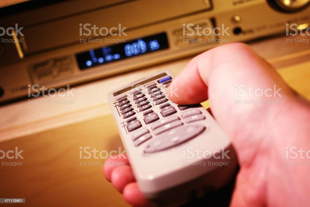 Remote controlling royalty-free stock photo