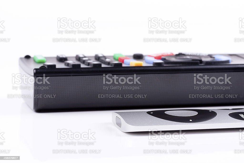 Remote controls stock photo