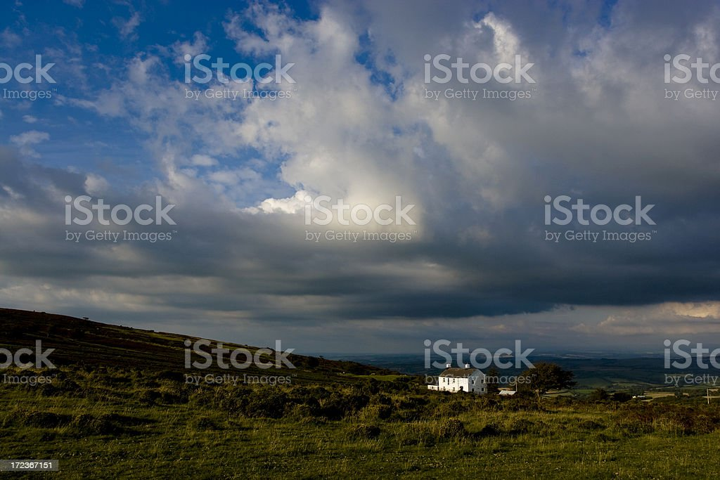 Remote Cottage stock photo