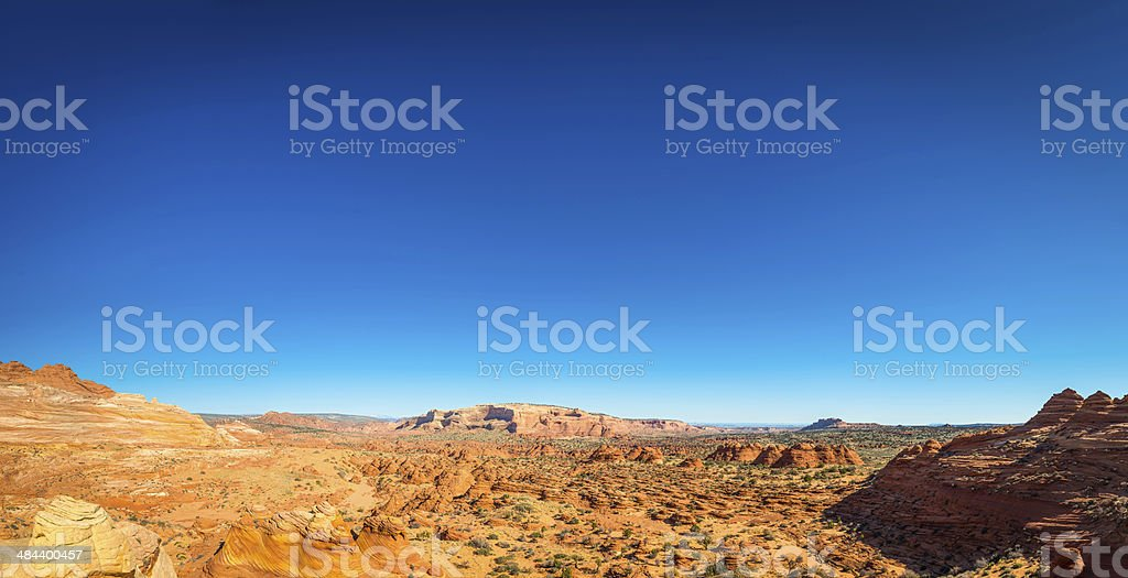 Remote desert wilderness background panorama Colorado Plateau Arizona Utah USA royalty-free stock photo