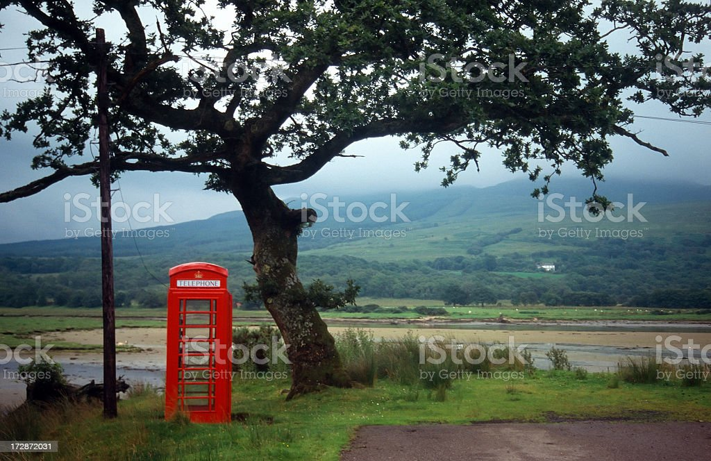 Remote English Phone Box royalty-free stock photo