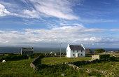 Remote farmhouse Aran islands Southern Ireland