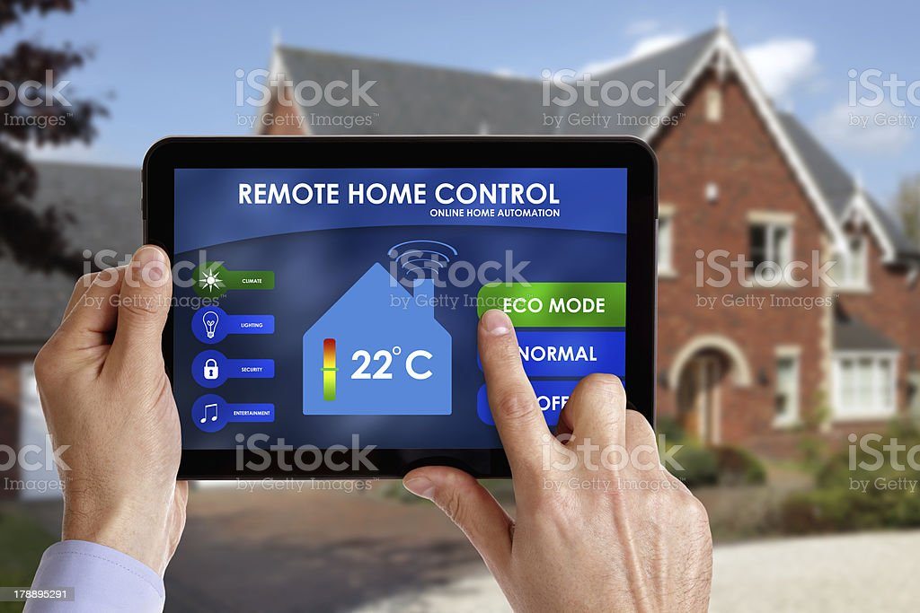 Remote home control stock photo