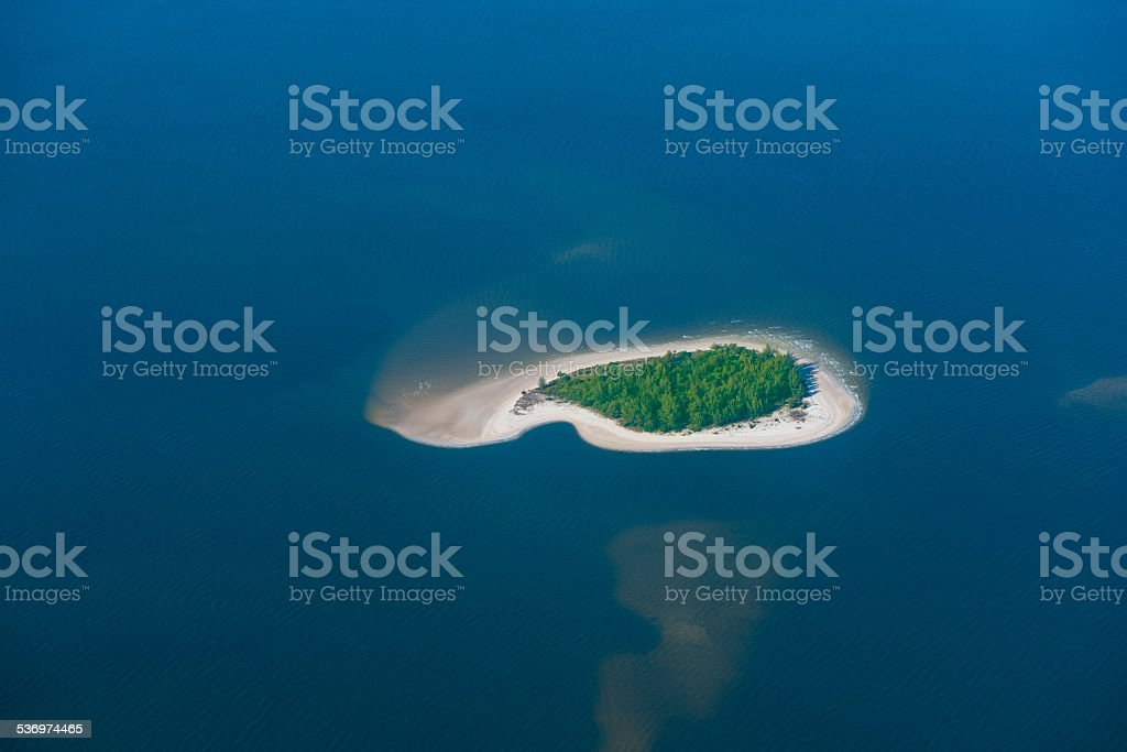 Remote Island Aerial View stock photo