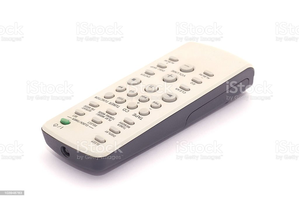 TV remote isolated on white. stock photo