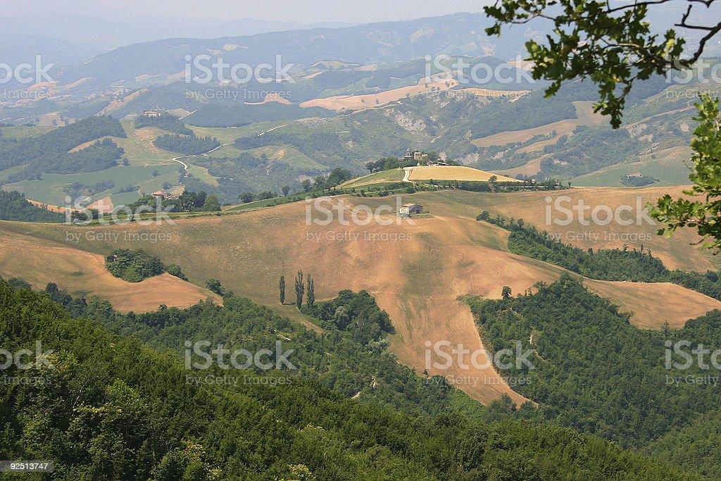 Remote Italian farm building stock photo