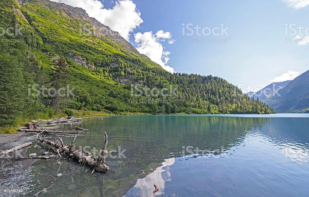 Remote Lake in the Alaskan Wilds stock photo