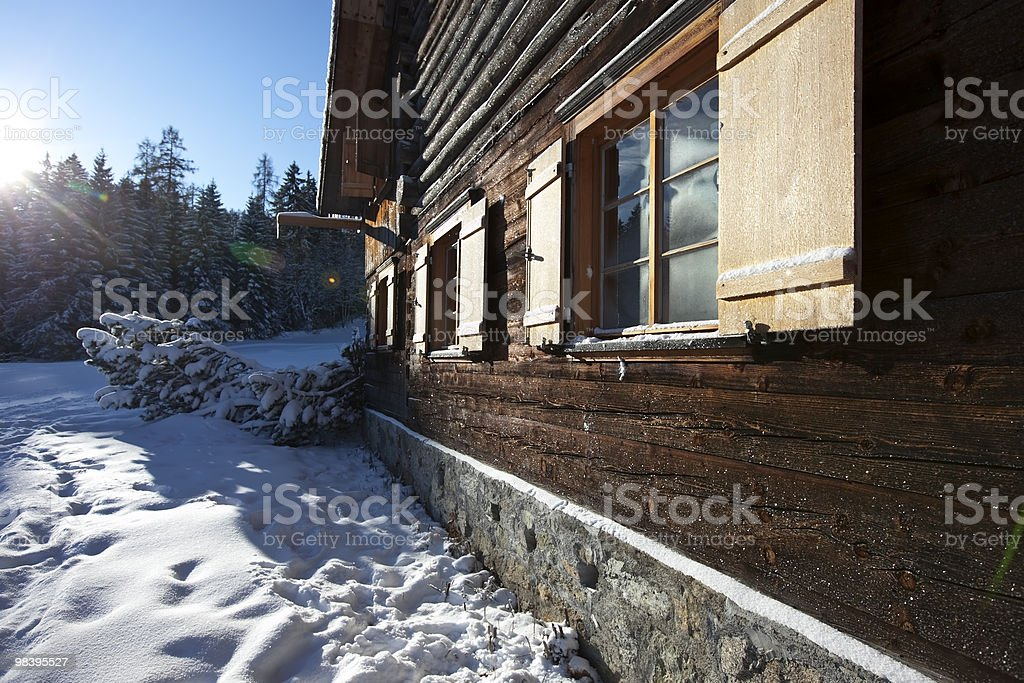 remote log cabin royalty-free stock photo