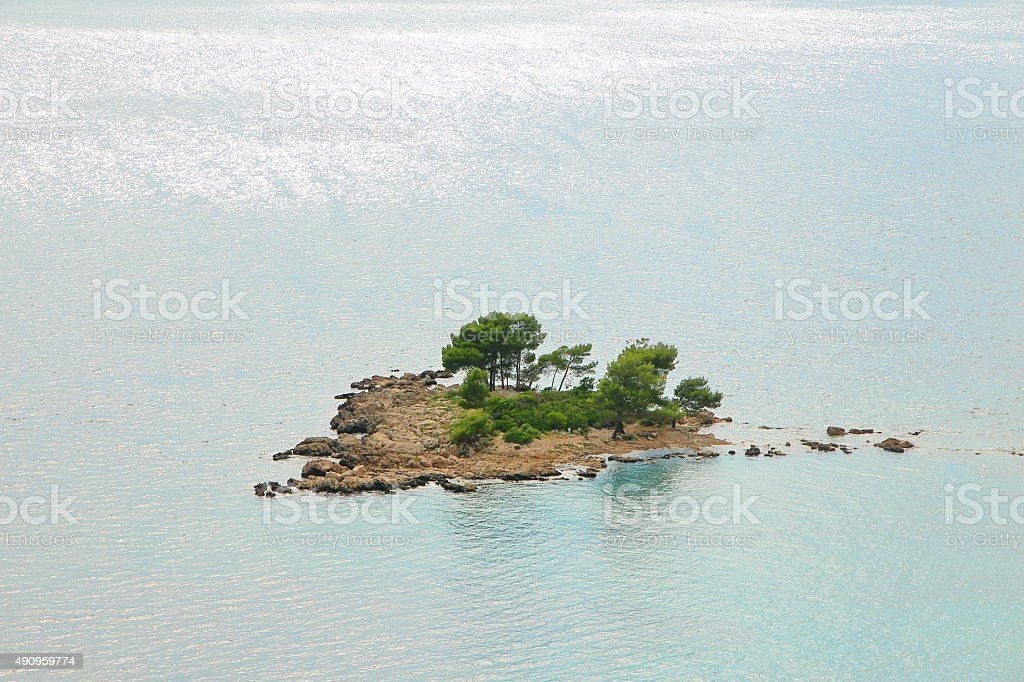 Remote lonely island stock photo