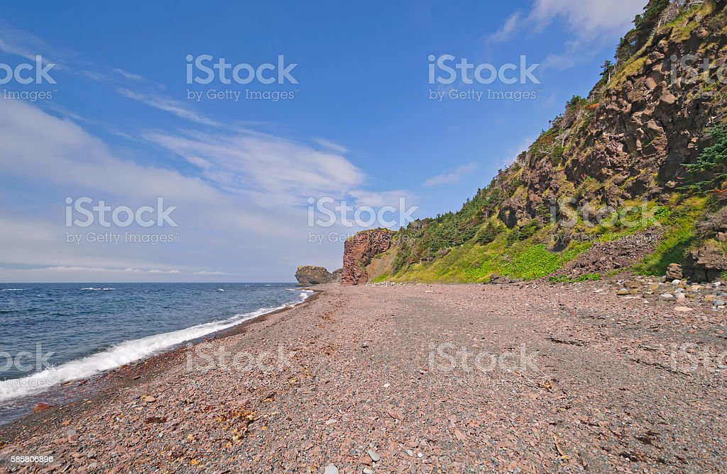 Remote Pebble Beach on a Sunny Day stock photo