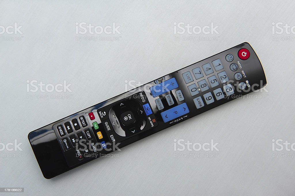 TV remote royalty-free stock photo