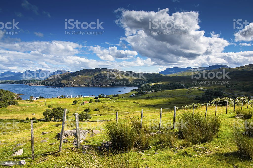 Remote scottish coastal village stock photo