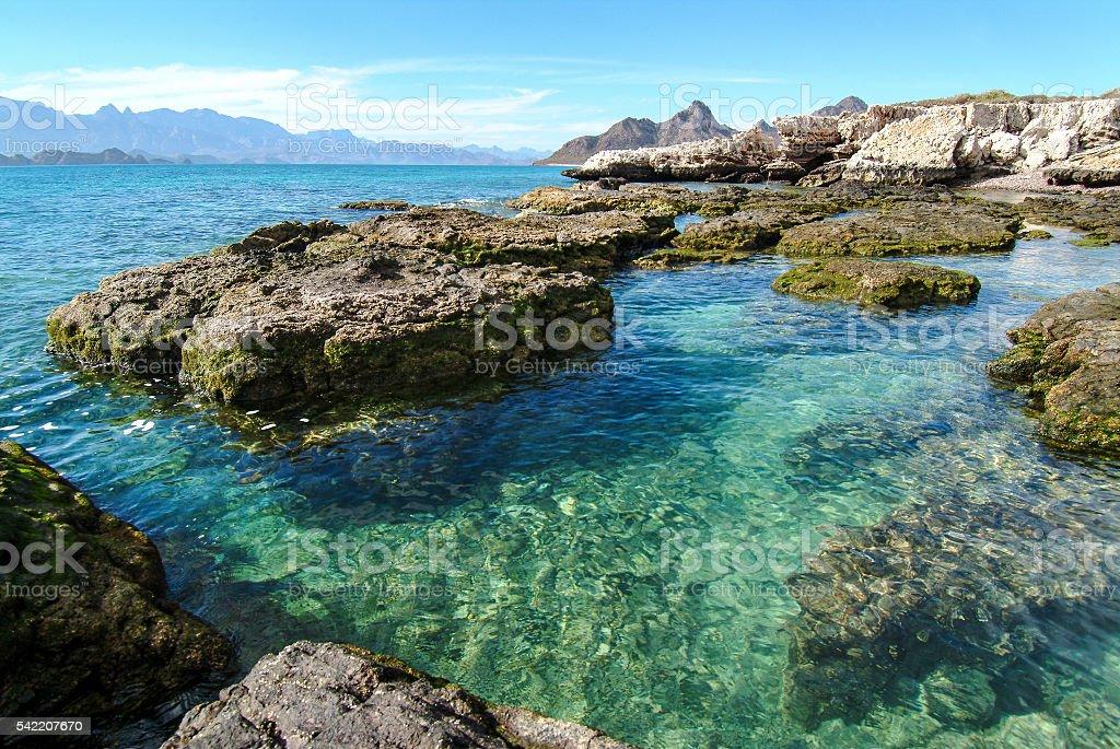Remote Sea of Cortez stock photo
