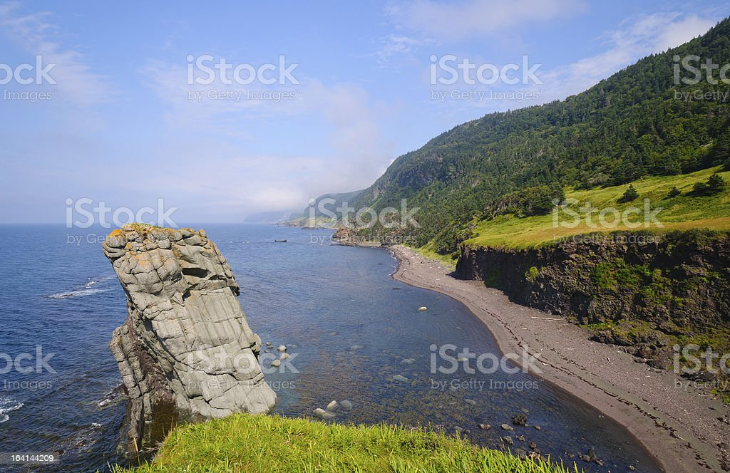 Remote Sea Shore in Newfoundland royalty-free stock photo