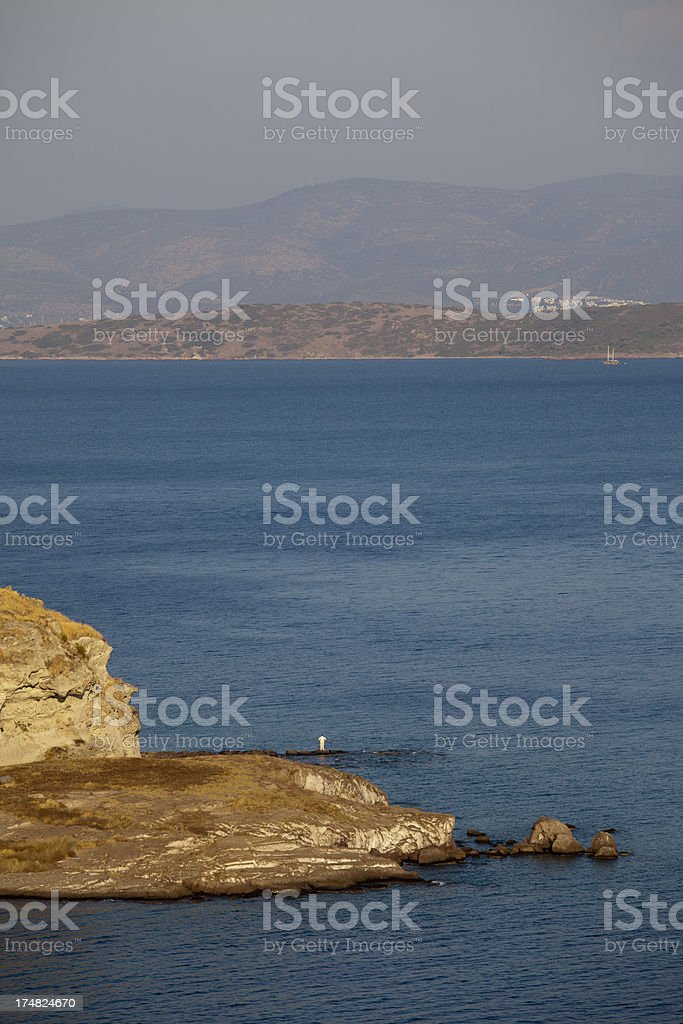 Remote Senior Man Looking at Landscape. royalty-free stock photo