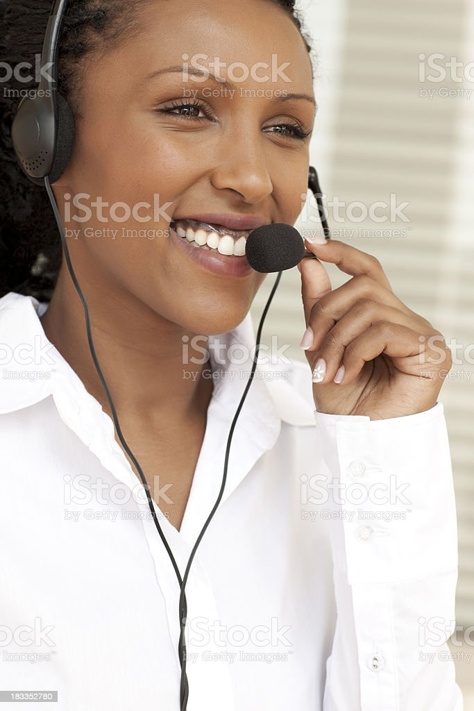Remote support service. royalty-free stock photo