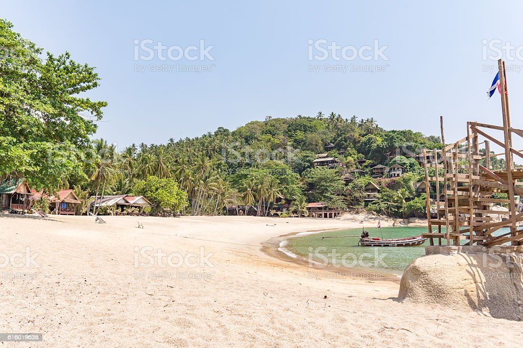 Remote tropical cove on a Thai island stock photo