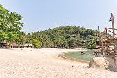 Remote tropical cove on a Thai island
