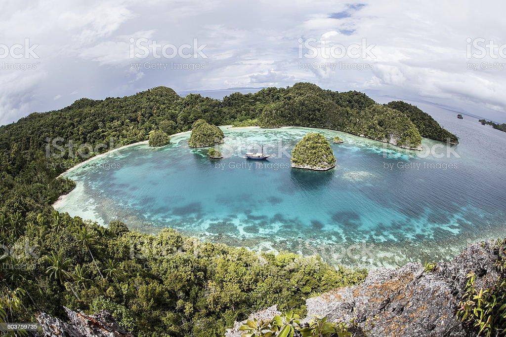 Remote Tropical Lagoon stock photo
