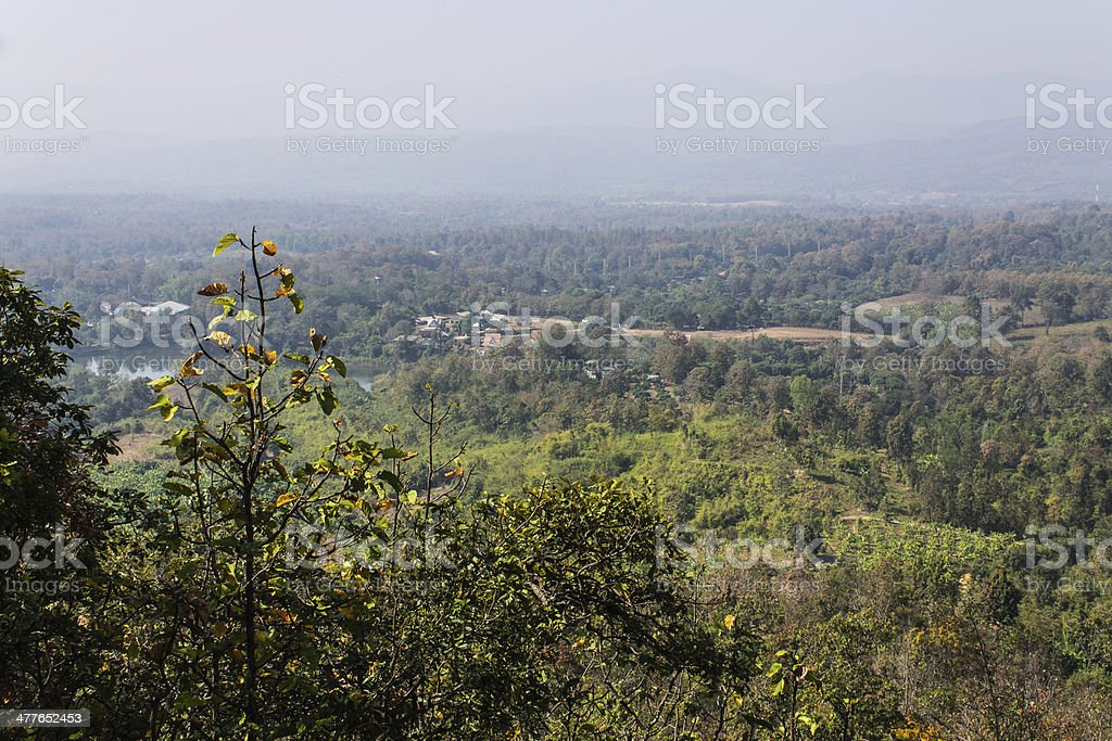 Remote village In maetang Chiangmai North Thailand royalty-free stock photo