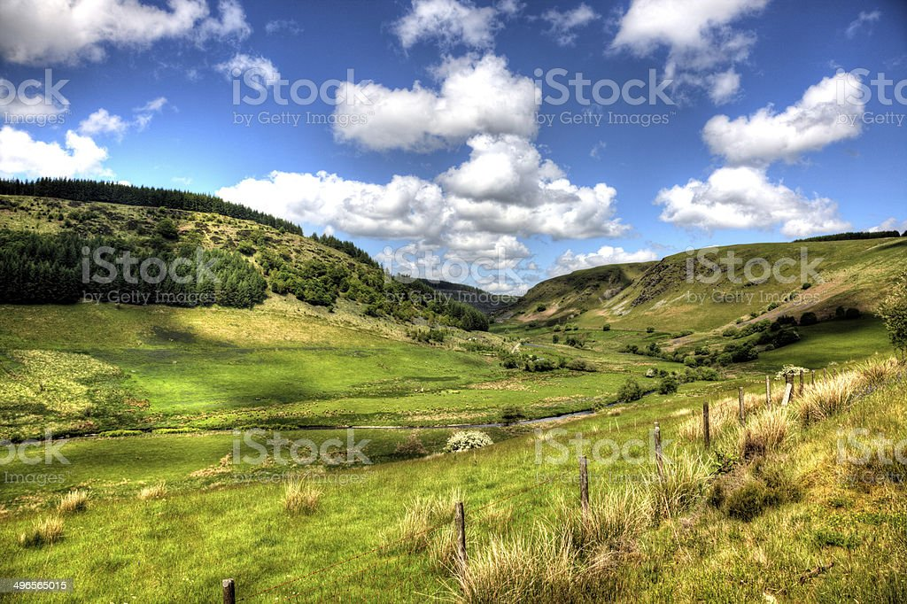 Remote Welsh countryside in summer royalty-free stock photo