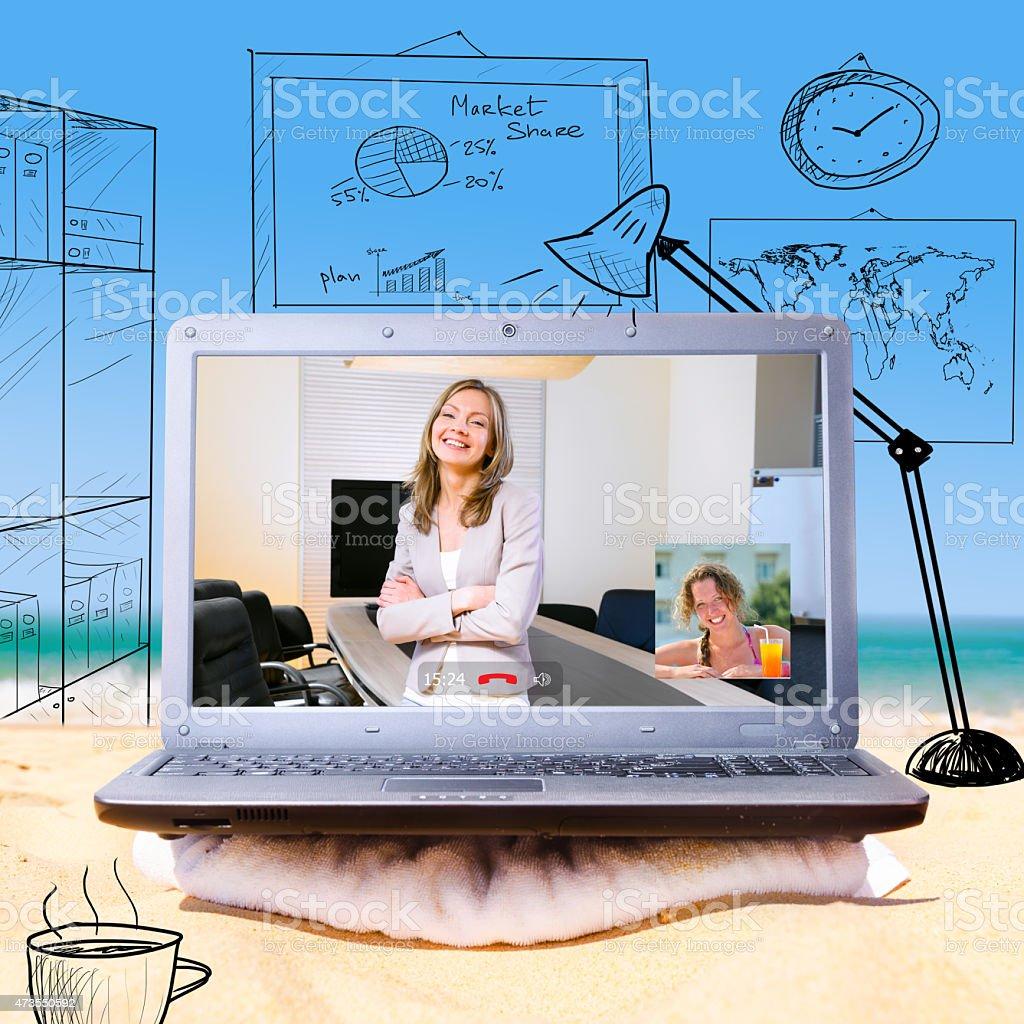 remote work stock photo