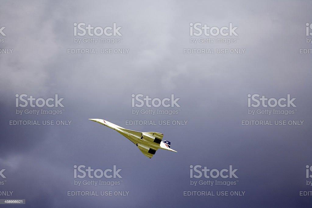 Remote-controlled Concorde scale model stock photo
