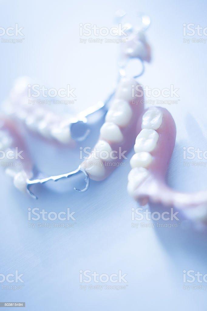 Removable partial dentures stock photo