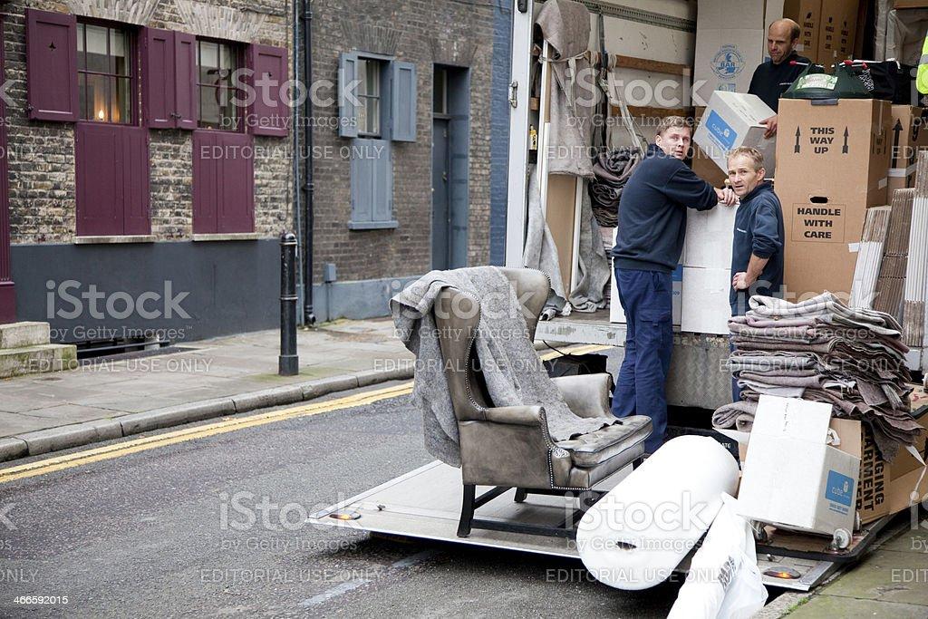Removal men stock photo